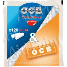 OCB FILTRI 6mm. SLIM BUSTA 120x34 + CARTINA ORANGE OMAGGIO