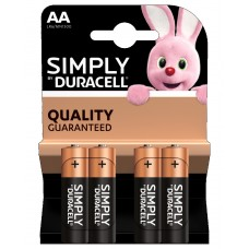 DURACELL Simply MN1500 STILO AA BL4x20