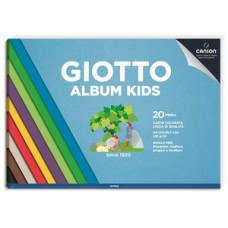 GIOTTO ALBUM KIDS A4 COLORATI DA 20FF 120GR DA 5